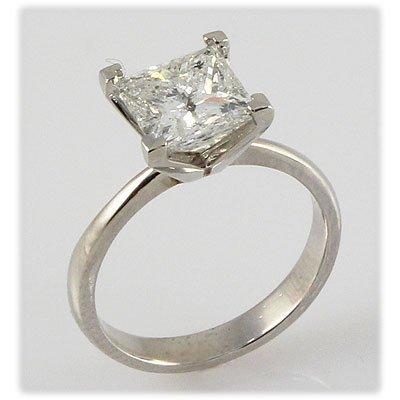 Genuine 2.00 ct Round cut Diamond Solitaire Ring, I-J,
