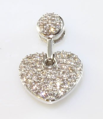 14kt White Gold 0.57 ctw Diamond Pendant