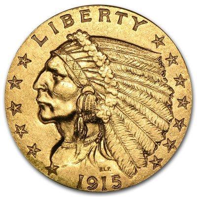 $2.50 Indian Gold Quarter Eagle (Extra Fine)