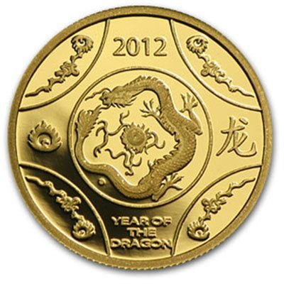 Royal Australian Mint 2012 1/10 oz Gold Proof- Year of