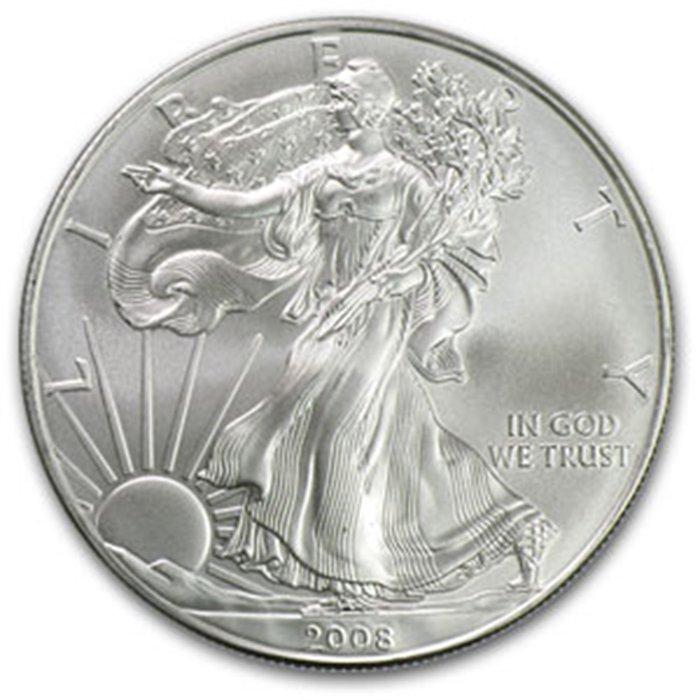 2008 1 oz Uncirculated  Silver American Eagle