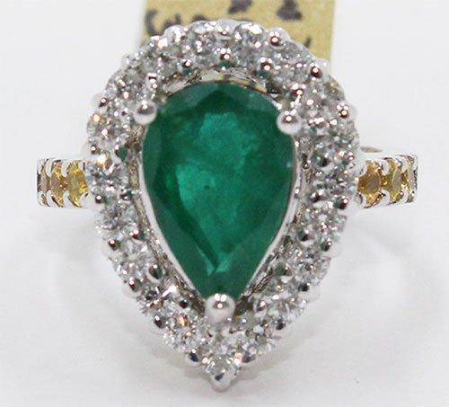 Natual Columbian Emerald & Yellow Sapphire 4.47 ctw