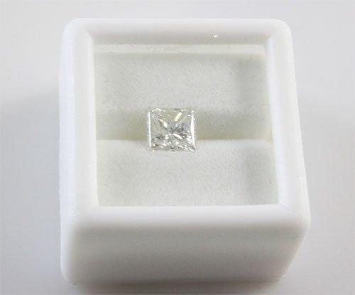 EGL Princess Cut Diamond 1.01 ct D, SI1