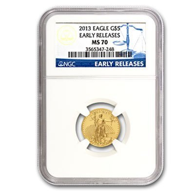 2013 1/10 oz Gold American Eagle MS70 PCGS First Strike