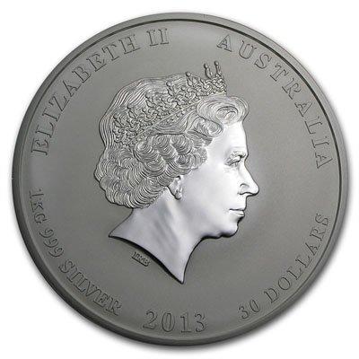 2013 1 Kilo 32.15 oz Silver Australian Year of the - 2