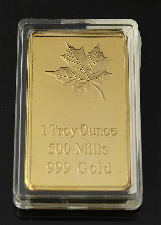 1 Troy Ounce 500 Mills 999 Gold Proof Layered See Sold Price