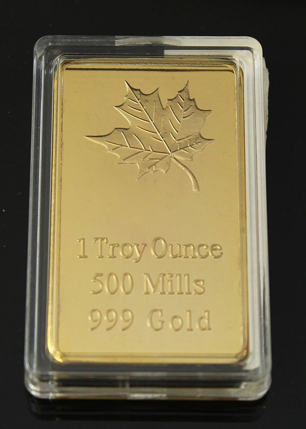1 TROY OUNCE 500 MILLS.999 GOLD (PROOF) LAYERED