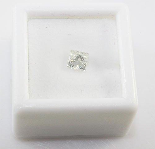 GRA Princess Cutr Diamond 0.52 ct F,SI1