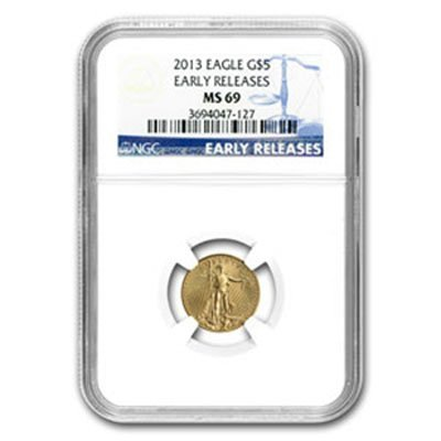 2013 1/10oz Gold American Eagle MS69 NGC Early Releases