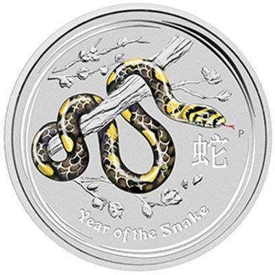 2013 Year of the Snake Gemstone Eye - 1 Kilo Silver