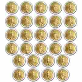 1986-2013 1 oz gold American Eagle Set (W/ Protective