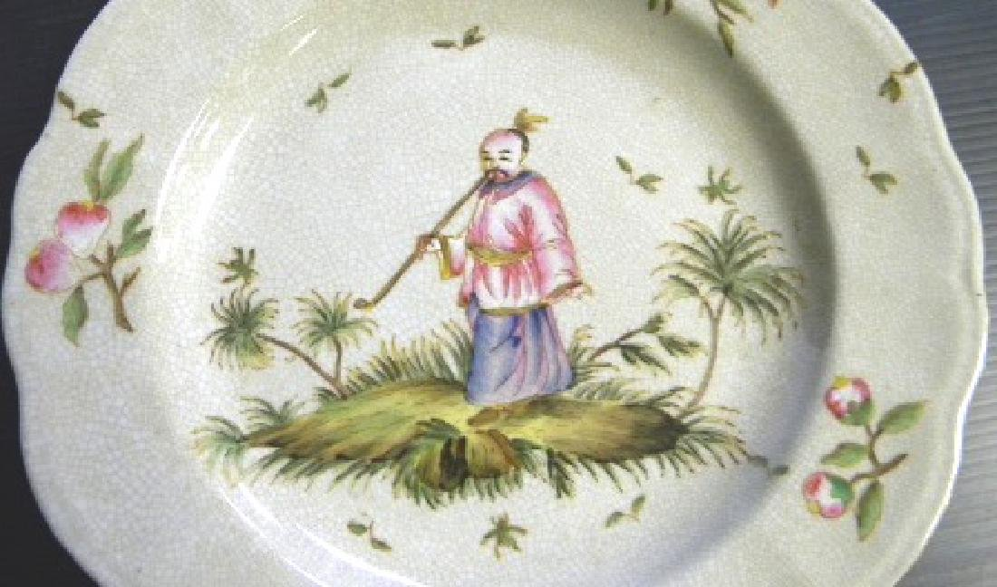 SET OF 4 DECORATIVE CHINESE ASIAN STYLE DINNER PLATES - 6
