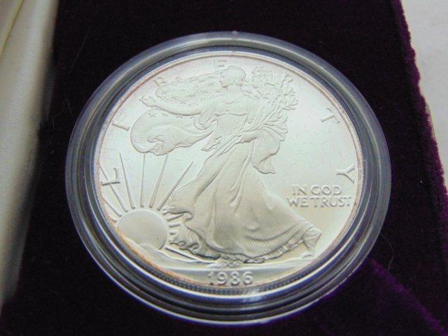 1986-S 1oz Silver American Eagle Proof Dollar w/COA - 2