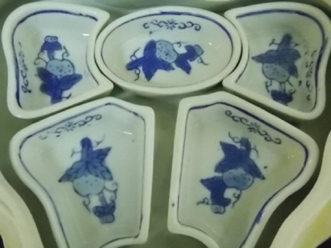 CHINESE PORCELAIN SUSHI BUTTERFLY BOWL SET - 3