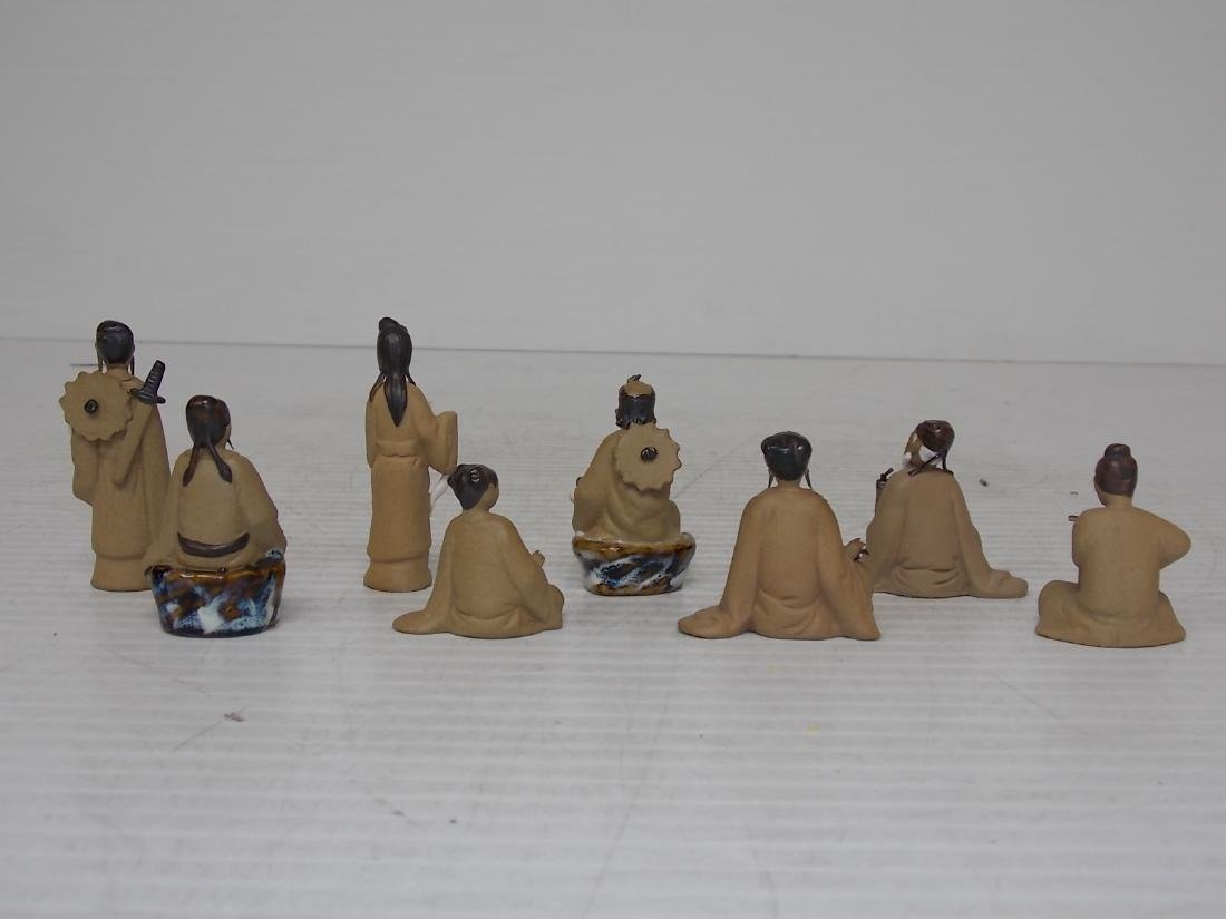 Set Of 8 Clay Chinese Immortal Figures - 6