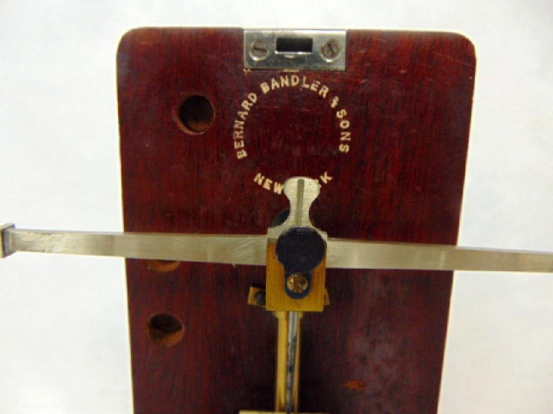 ANTIQUE HIGH END GOLD OR DIAMOND FIFTH AVE POCKET SCALE - 2