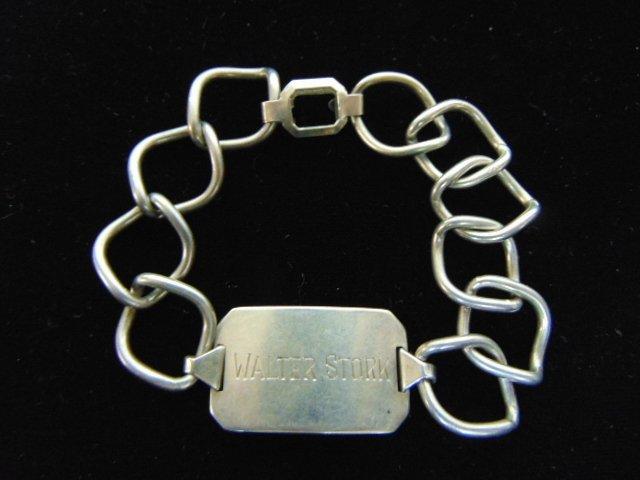 Rare Naval Reserve .925 Sterling Silver Bracelet