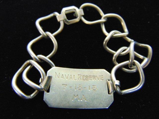Rare Naval Reserve .925 Sterling Silver Bracelet - 2