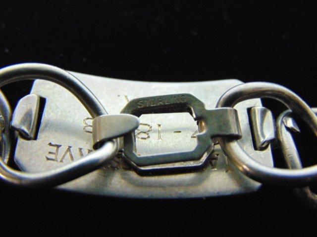 Rare Naval Reserve .925 Sterling Silver Bracelet - 3