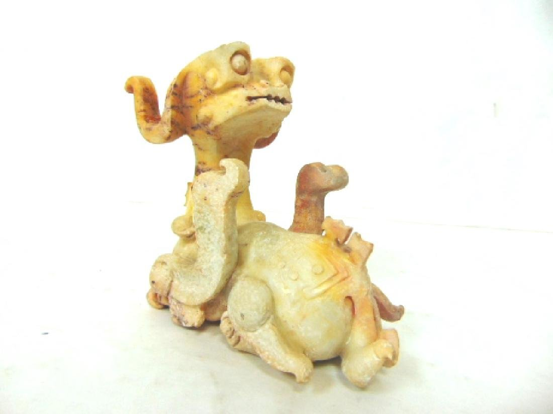 VINTAGE HAND CARVED CHINESE JADE SOAPSTONE DRAGON - 2