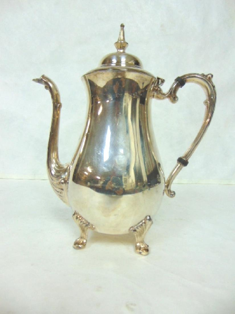 VINTAGE ENGLISH SILVERPLATE TEAPOT GOLF TROPHY - 2