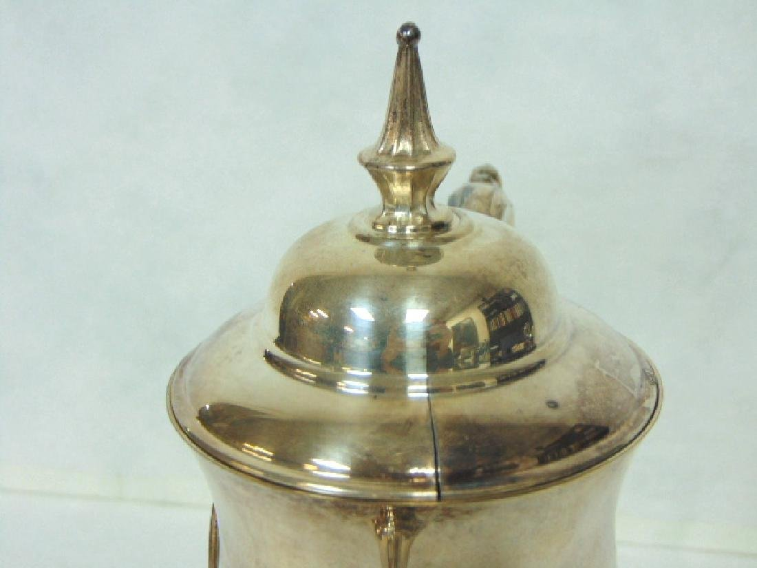 VINTAGE ENGLISH SILVERPLATE TEAPOT GOLF TROPHY - 6