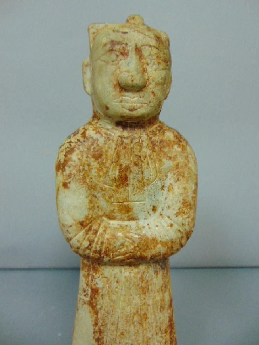 BEAUTIFUL CHINESE HONG SHAN HAND CARVED SOAPSTONE DEITY - 5