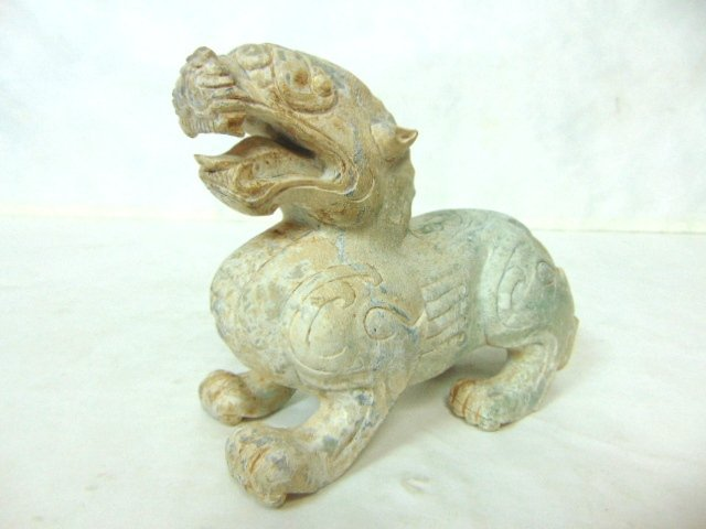 VINTAGE HAND CARVED CHINESE SOAPSTONE FOO DOG DRAGON - 2