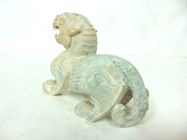 VINTAGE HAND CARVED CHINESE SOAPSTONE FOO DOG DRAGON - 3