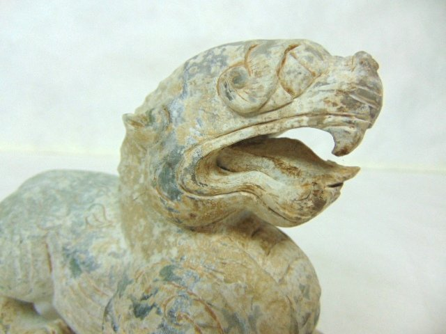 VINTAGE HAND CARVED CHINESE SOAPSTONE FOO DOG DRAGON - 6