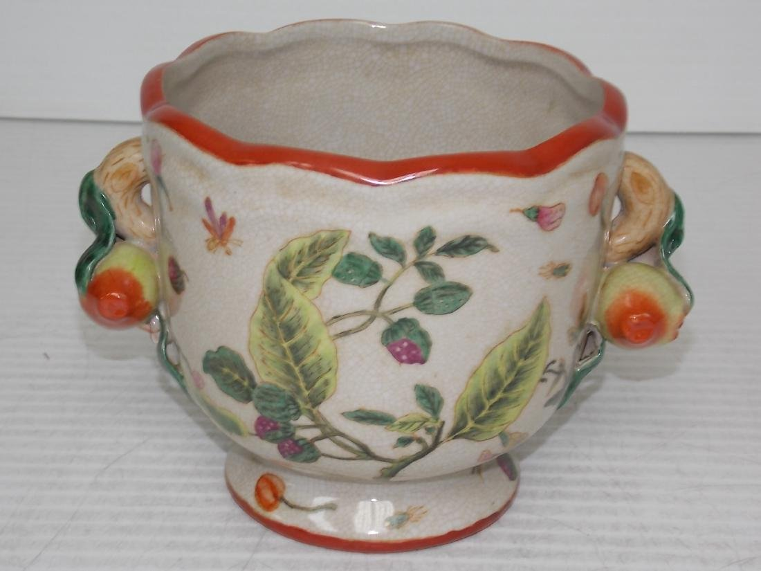 DECORATIVE VICTORIAN STYLE FLORAL COMPOTE FLOWER POT
