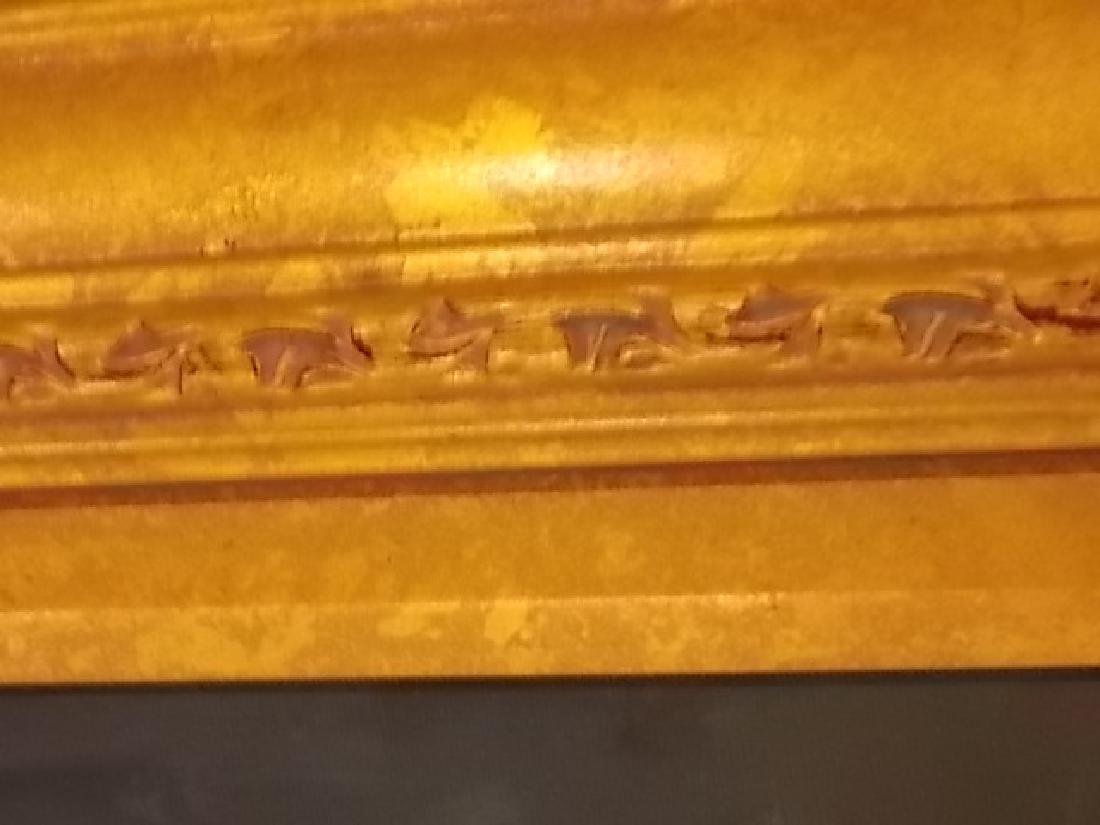 DECORATIVE PAINTING OF VENICE ITALY W/ GOLD GILT FRAME - 5