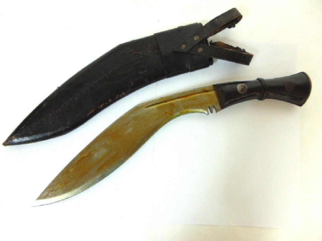 VINTAGE AFRICAN GURKHA KUKRI FIGHTING KNIFE