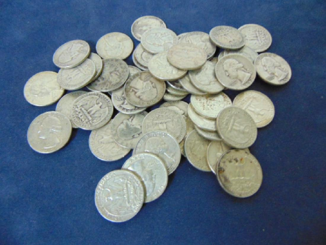 LOT OF 52 ESTATE SILVER WASHINGTON QUARTERS