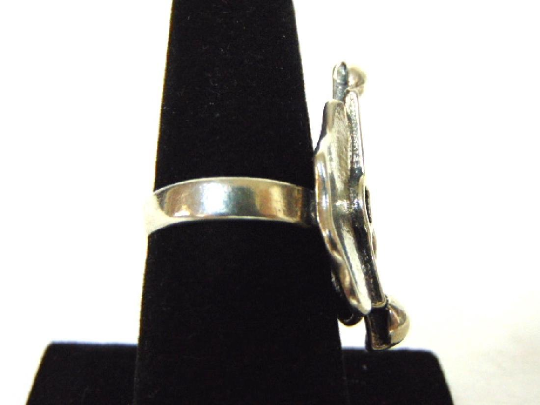 Womens Vintage Estate Sterling Silver Ring - 2