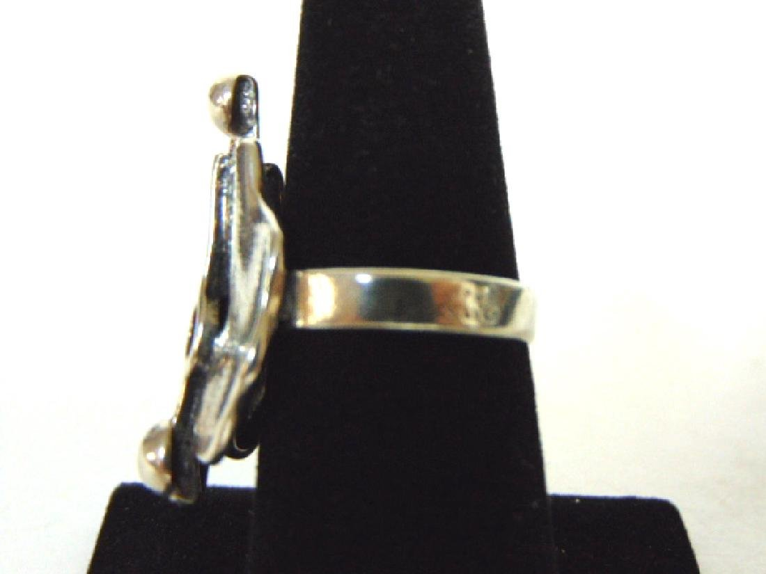 Womens Vintage Estate Sterling Silver Ring - 3