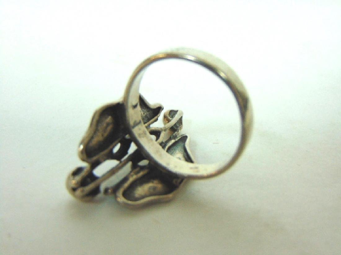 Womens Vintage Estate Sterling Silver Ring - 5