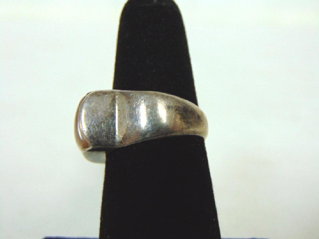Vintage Sterling Silver Ring w/ Moonstone - 3