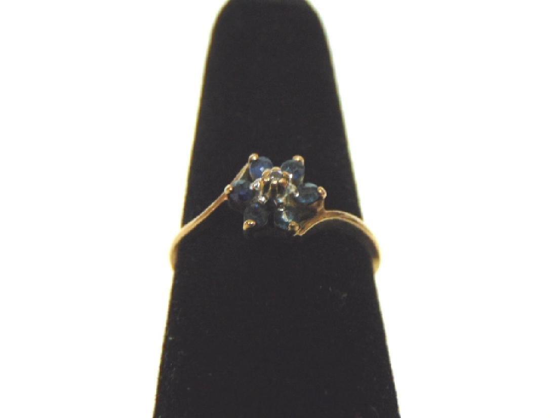 Vintage Estate 10k Gold Ring w/ Blue Sapphire