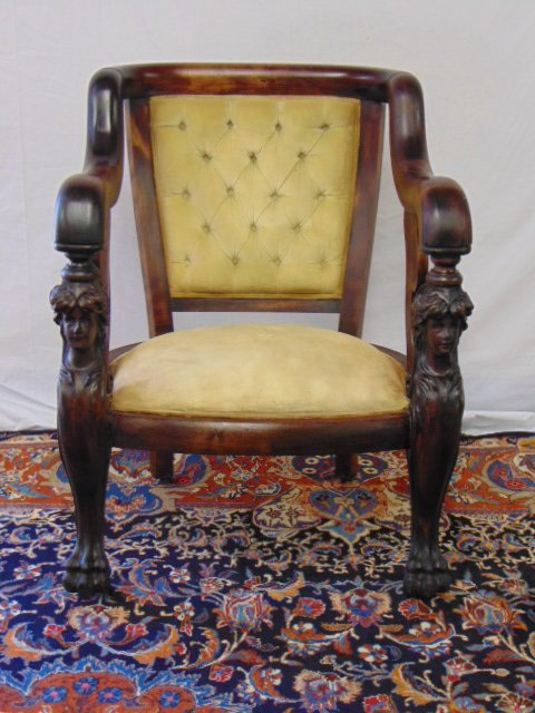 EXQUISITE HAND CARVED VICTORIAN MAHOGANY CHAIR