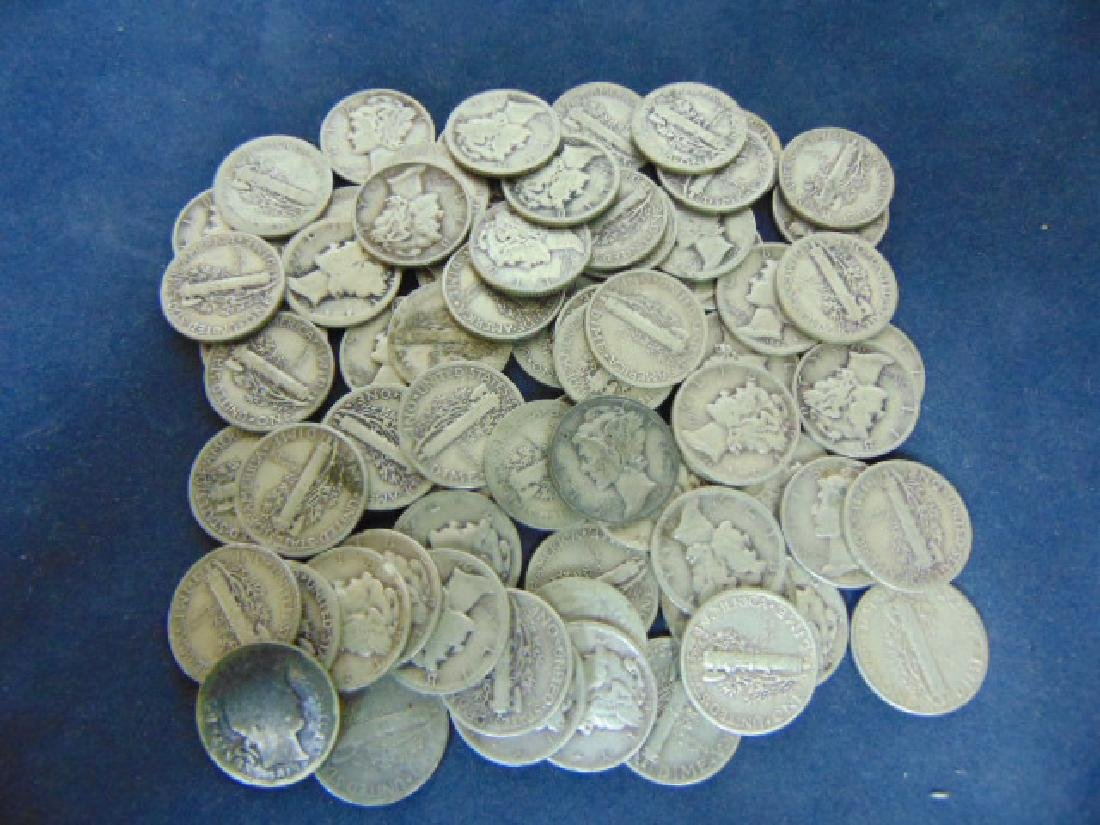 COLLECTORS LOT OF 70 CIRCULATED MERCURY SILVER DIMES