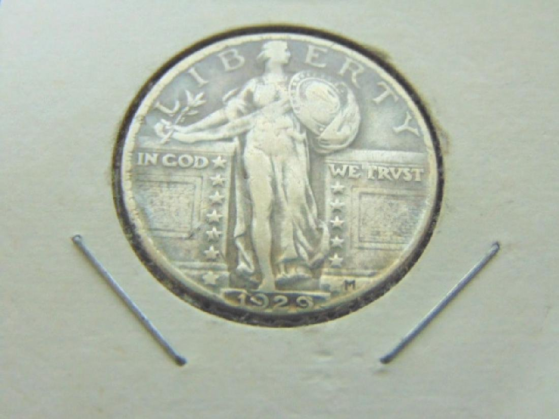 COLLECTIBLE 1929 STANDING LIBERTY QUARTER VGC
