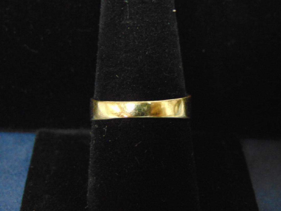 VINTAGE 14K GOLD & DIAMOND RING W/ MULTI COLORED STONES - 5