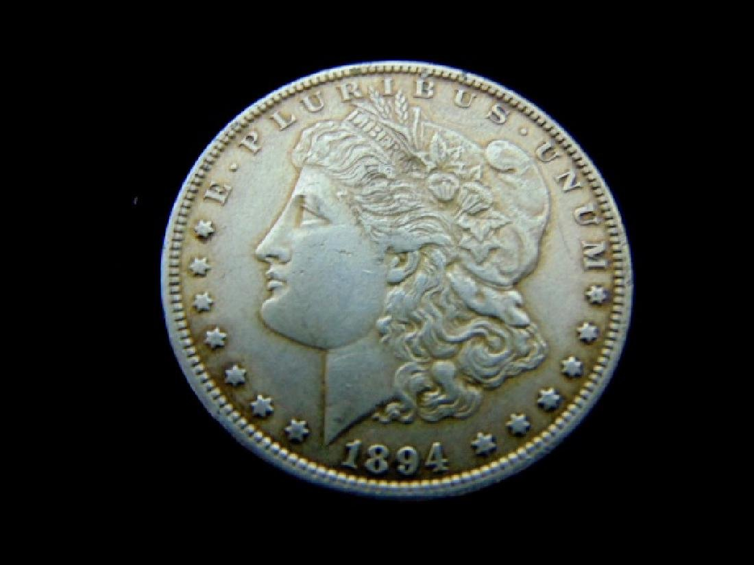 RARE KEY DATE 1894 MORGAN SILVER DOLLAR COIN