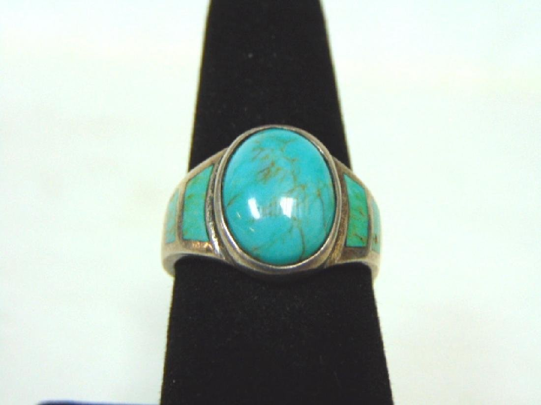 Impressive Sterling Silver & Turquoise Ring