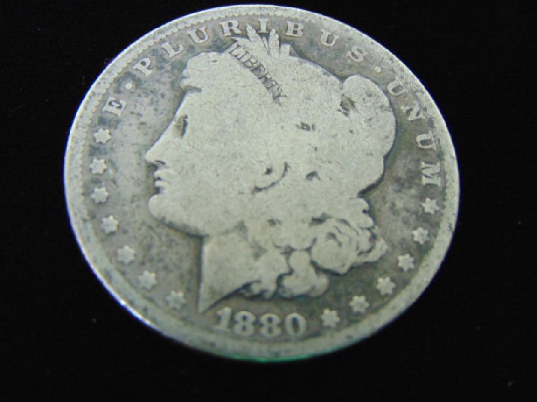 1880  MORGAN SILVER DOLLAR COIN ESTATE FIND