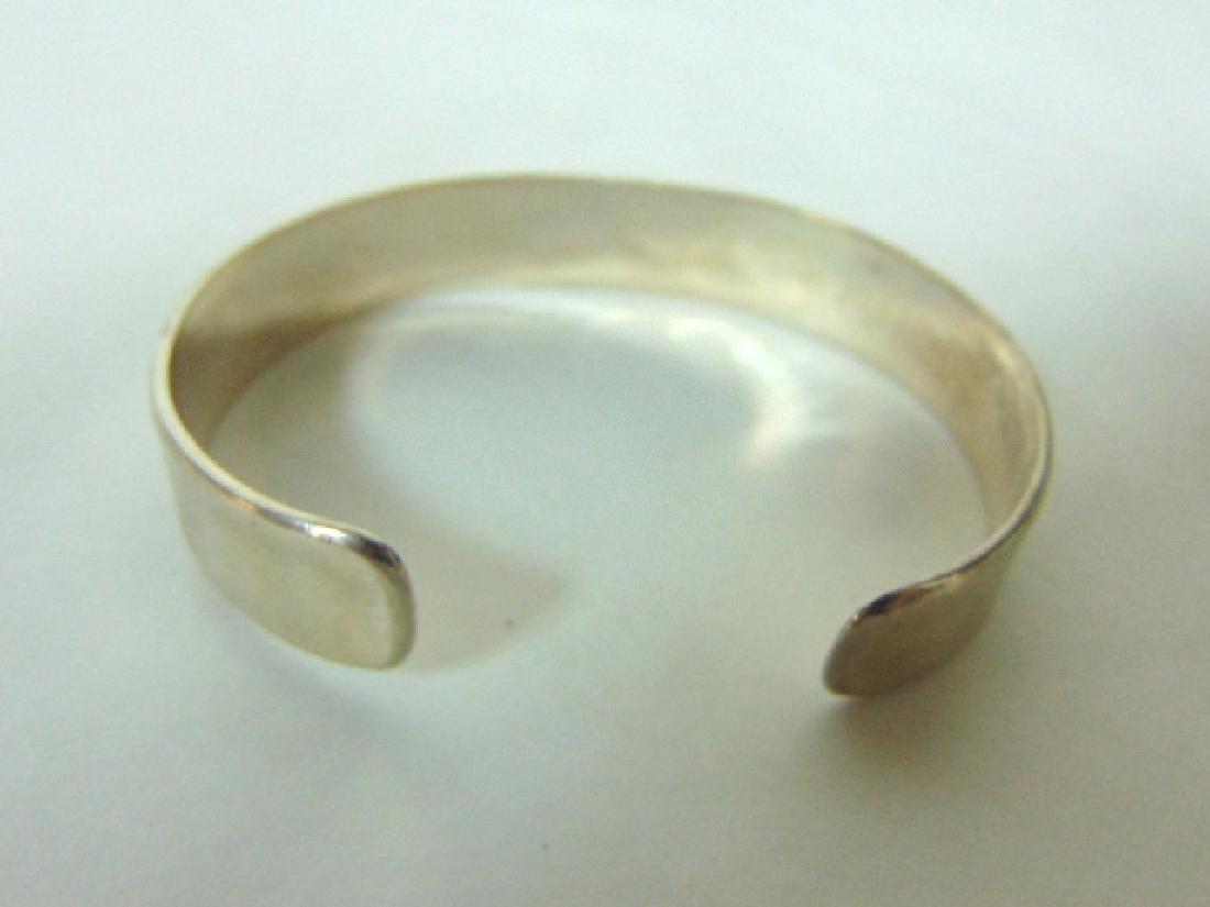 Sterling Silver Cuff Bracelet w/ Sothwestern Lizard - 2