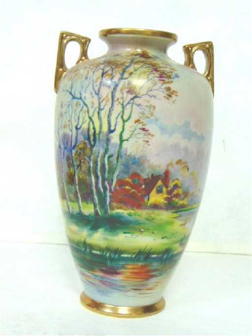 Exquisite Antique Hand Painted Nippon Vase Japan