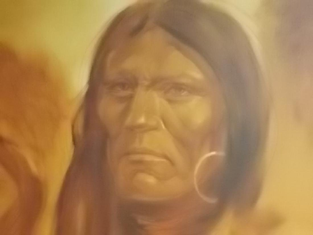 RARE MONUMENTAL LOPEZ BAYLON NATIVE AMERICAN PAINTING - 3