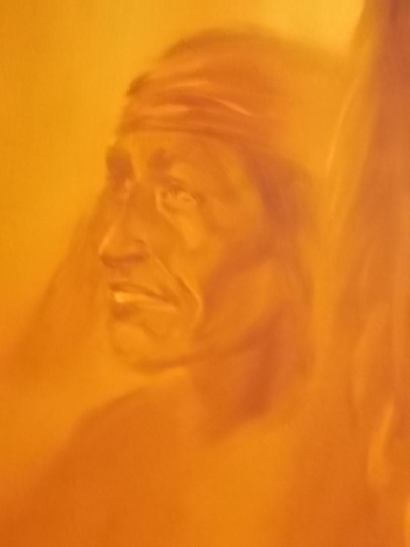 RARE MONUMENTAL LOPEZ BAYLON NATIVE AMERICAN PAINTING - 5